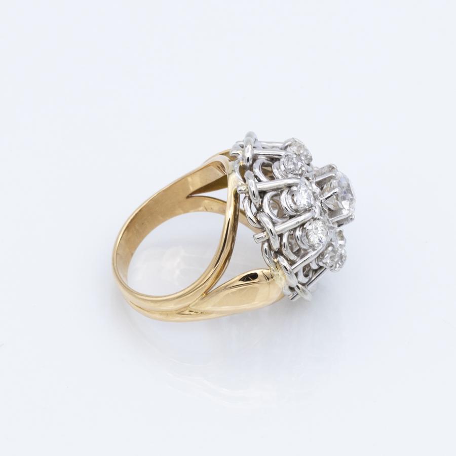Bague deux ors et diamants