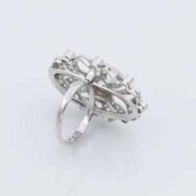 Bague ancienne fleur diamant