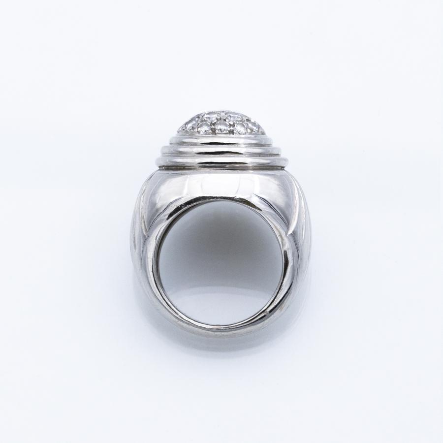 Bague jonc en or gris et 19 diamants