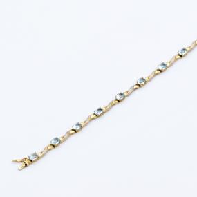 Bracelet ligne de topazes