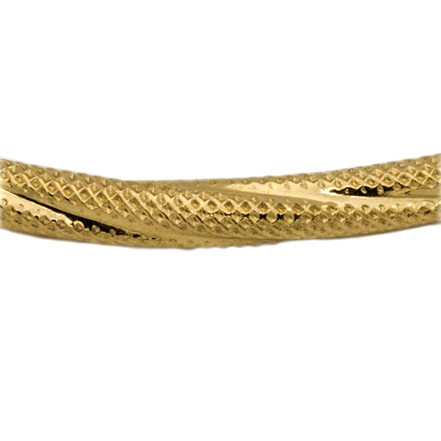 Bracelet jonc ouvrant en or et torsades