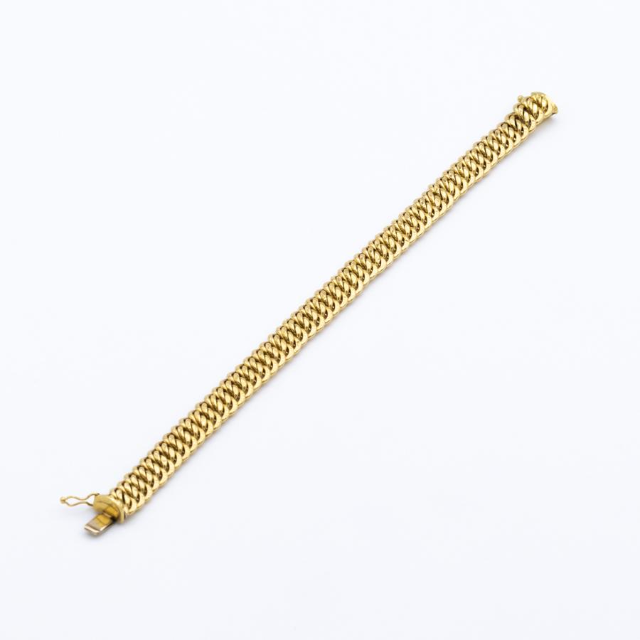 Bracelet gourmette américaine en or jaune