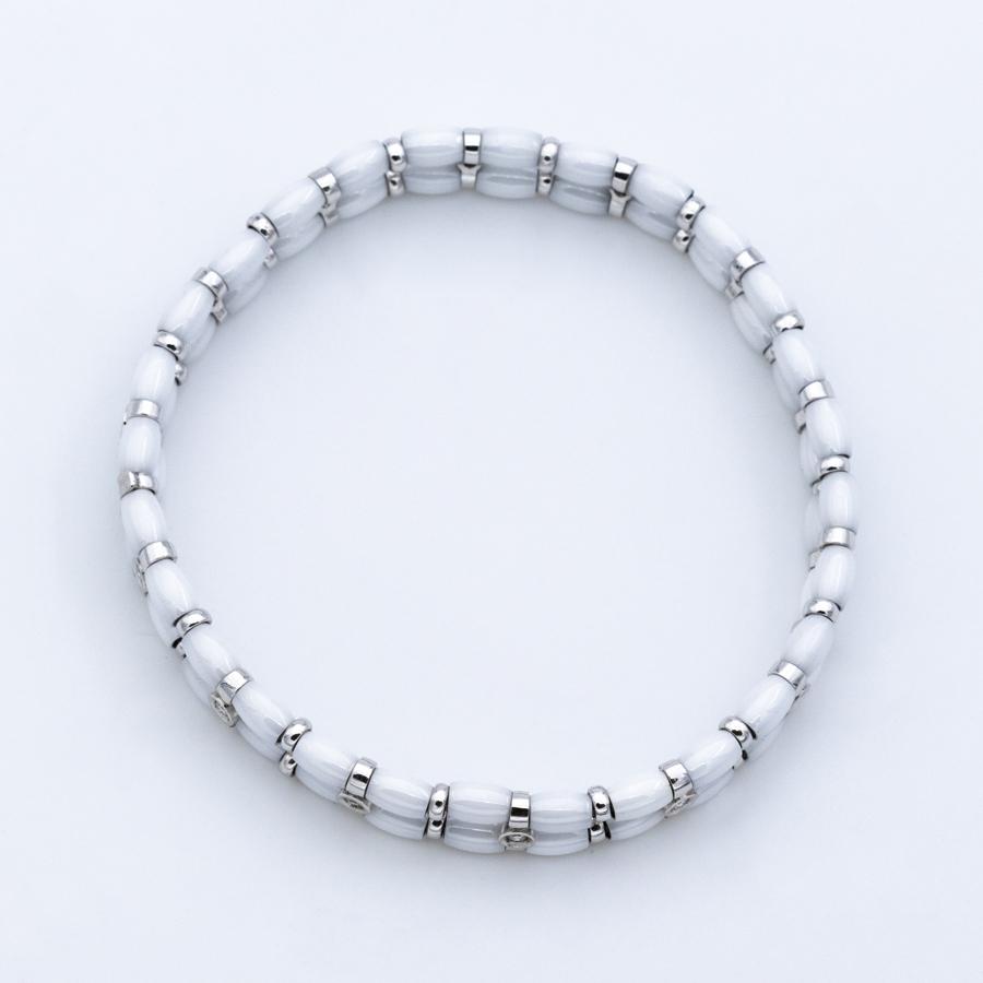 Bracelet en céramique et 14 diamants