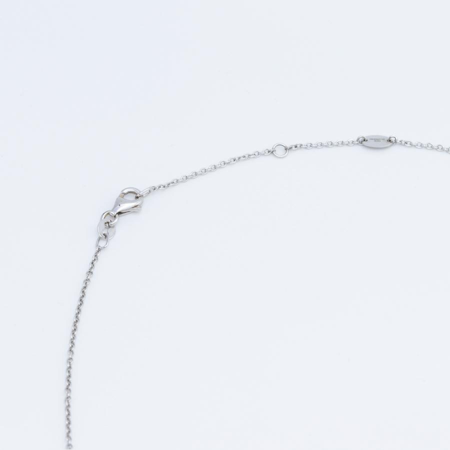 Collier pendentif New Flanders en or gris, saphir et diamant