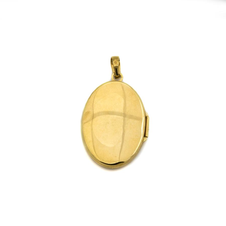 Pendentif cassolette en or jaune